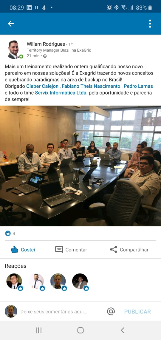 Servix e ExaGrid anunciam parceria
