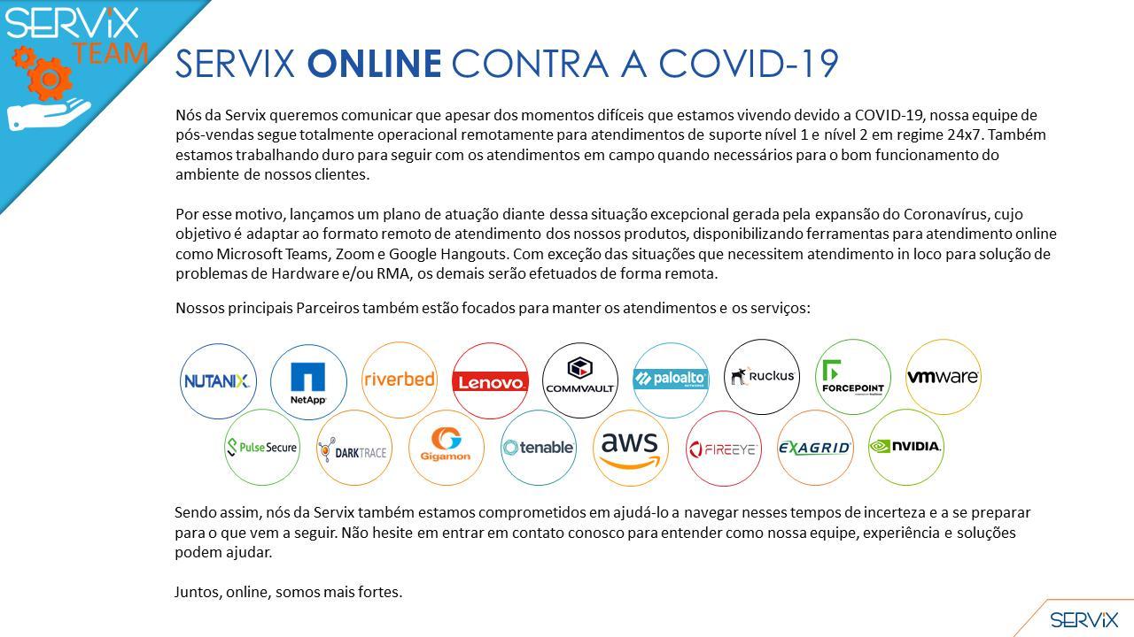 CORONAVIRUS: SERVIX INFORMATION