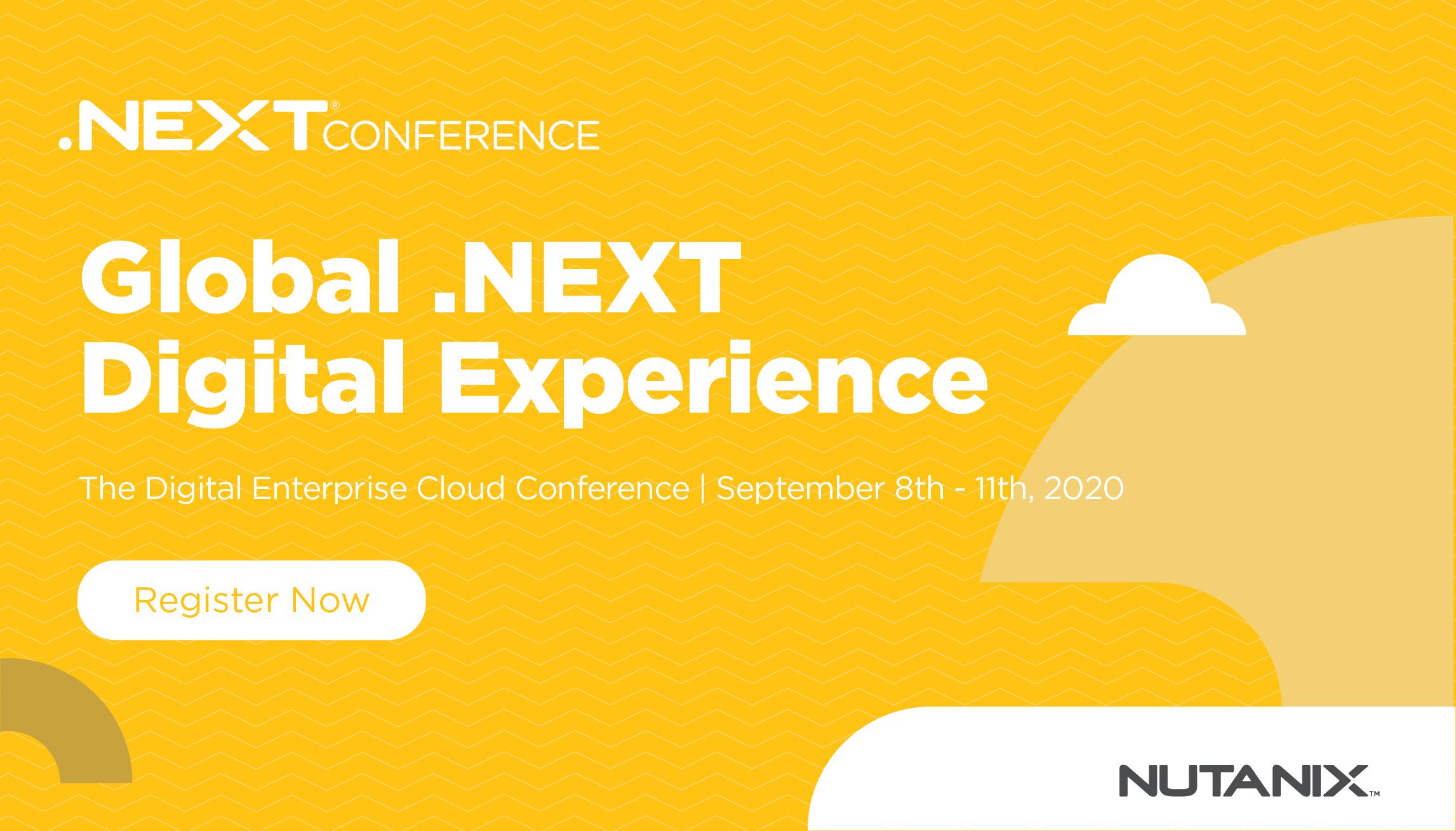 Inscreva-se hoje para o Global .NEXT Digital Experience